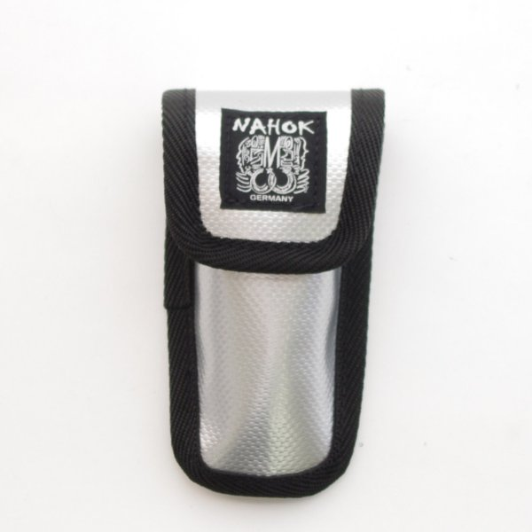 Photo1: NAHOK Trumpet Mouthpiece Case [NYNY] Silver / Black {Waterproof}