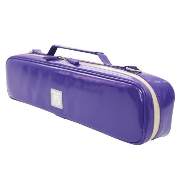 Photo2:  NAHOK Flute Case Bag B Foot [Amadeus] Violet {Waterproof, Temperature Adjustment & Shock Absorb}