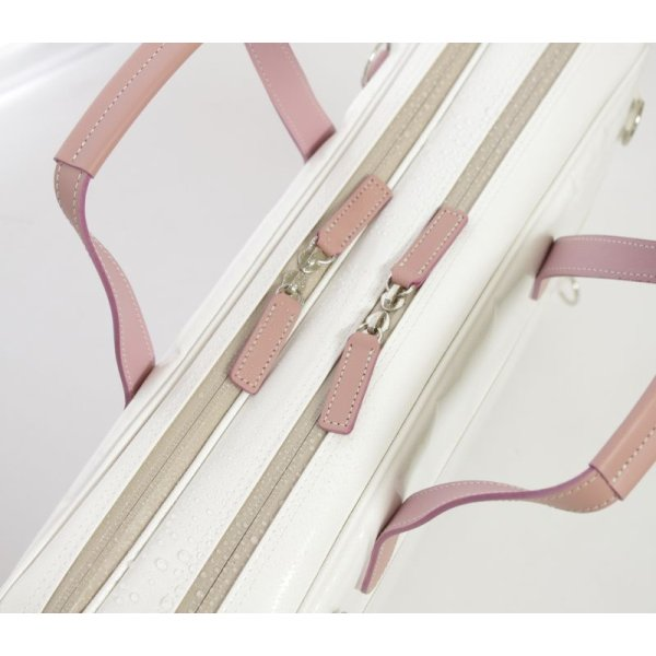 Photo4: NAHOK Briefcase for Flute, Oboe, Clarinet [Deniro] White / Pink {Waterproof, Temperature Adjustment & Shock Absorb}