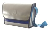 NAHOK Messenger Bag [Schneider] Silver / Calypso Blue {Waterproof, Temperature Adjustment & Humidity Regulation, Shock Protection}