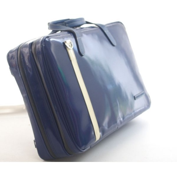 Photo2: NAHOK 2 Compartment Briefcase for Flute, Oboe, Clarinet [Deniro] Deep Blue / Ivory {Waterproof, Temperature Adjustment & Shock Absorb}