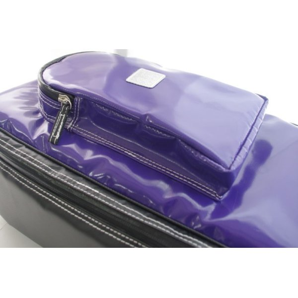 Photo2: NAHOK Acoustic Guitar Carry Case [Scorsese] Violet / Black {Waterproof, Temperature Adjustment & Shock Absorb}