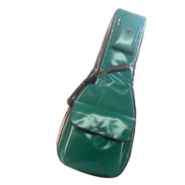 Photo1: NAHOK Acoustic Guitar Carry Case [Scorsese] Matte Emerald Green / Black {Waterproof, Temperature Adjustment & Shock Absorb}