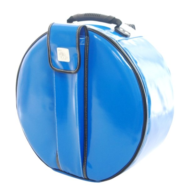 Photo1: NAHOK Backpack style 14inch Snare Drum Case with Stick Pocket [Golden Arm 2] Ocean Blue {Waterproof, Temperature Adjustment & Shock Absorb}