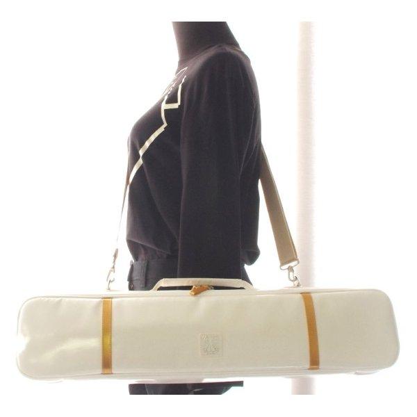 Photo4: NAHOK Alto Flute Case Guard B Foot [Krysar] White / Gold {Waterproof, Temperature Adjustment & Shock Absorb}