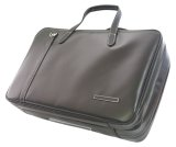 NAHOK 2 Compartment Briefcase for Flute, Oboe, Clarinet [Deniro] Matte Black {Waterproof, Temperature Adjustment & Shock Absorb}