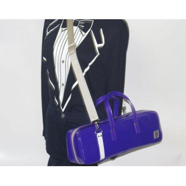 Photo3: NAHOK Flute Case Bag C Foot [Grand Master2] Violet / White {Waterproof, Temperature Adjustment & Shock Absorb}