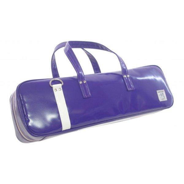 Photo1: NAHOK Flute Case Bag C Foot [Grand Master2] Violet / White {Waterproof, Temperature Adjustment & Shock Absorb}