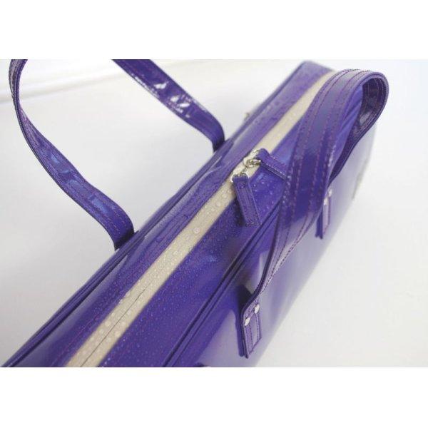Photo2: NAHOK Flute Case Bag C Foot [Grand Master2] Violet / White {Waterproof, Temperature Adjustment & Shock Absorb}