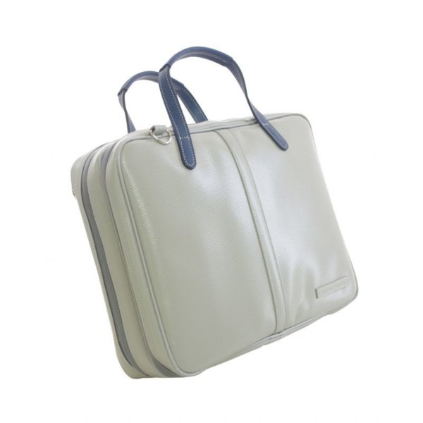 Photo1: NAHOK Briefcase for Oboe [Cantabile] Matte Light Gray / Navy Blue {Waterproof, Temperature Adjustment & Shock Absorb}