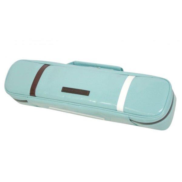 Photo1:  NAHOK Flute Case Bag B Foot [Amadeus] Peacock Green / White, Chocolate {Waterproof, Temperature Adjustment & Shock Absorb}