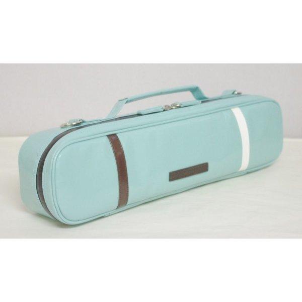Photo3:  NAHOK Flute Case Bag B Foot [Amadeus] Peacock Green / White, Chocolate {Waterproof, Temperature Adjustment & Shock Absorb}