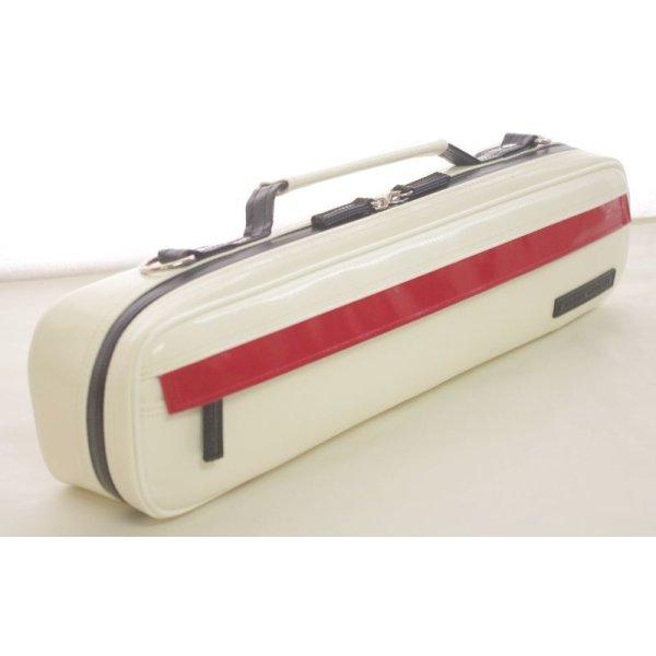 Photo3:  NAHOK Flute Case Bag B Foot [Amadeus] White / Red, Black {Waterproof, Temperature Adjustment & Shock Absorb}