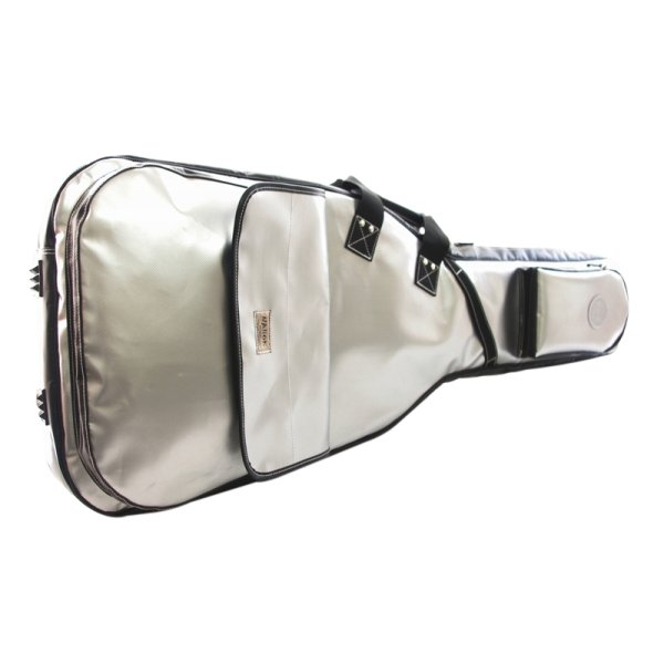 Photo1: NAHOK Electric Guitar Carry Case [The Expendables 2] Silver / Black {Waterproof, Temperature Adjustment & Shock Absorb}