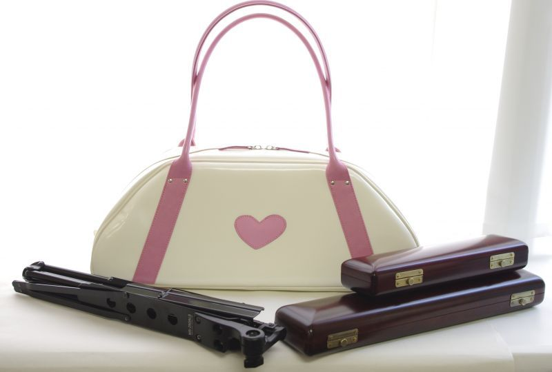 Other Photos1 Nahok Flute Piccolo Bag Bella White Pink Heart
